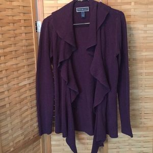 Jewel tone purple layering cardigan